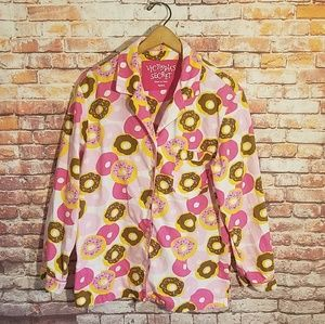 Victoria's Secret donut pajama top shirt